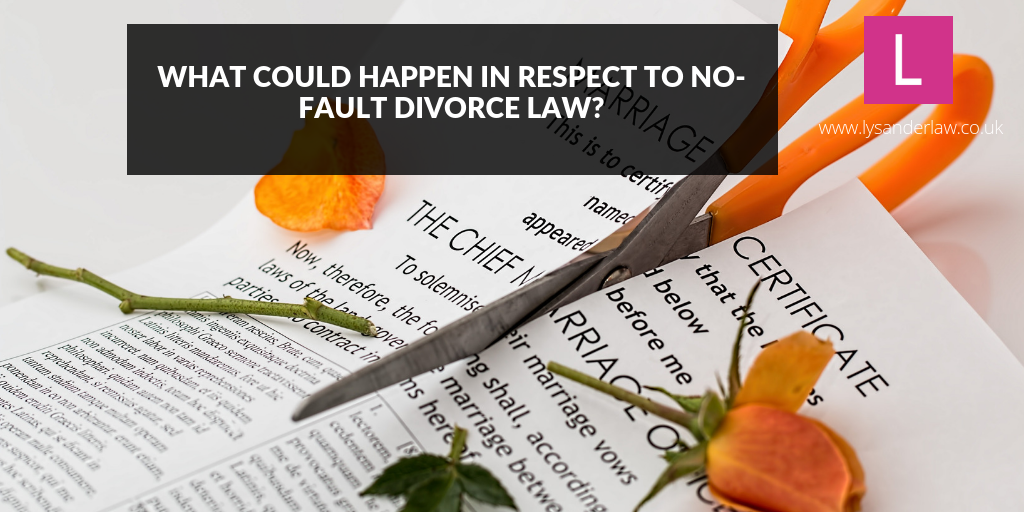 What could happen in respect to no-fault divorce law?