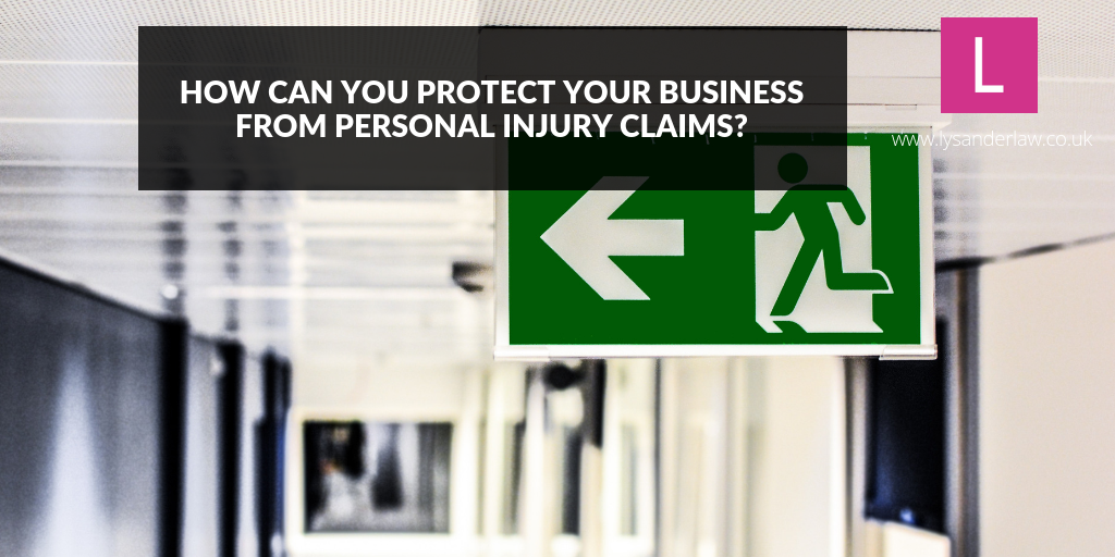 How can you protect your business from personal injury claims?