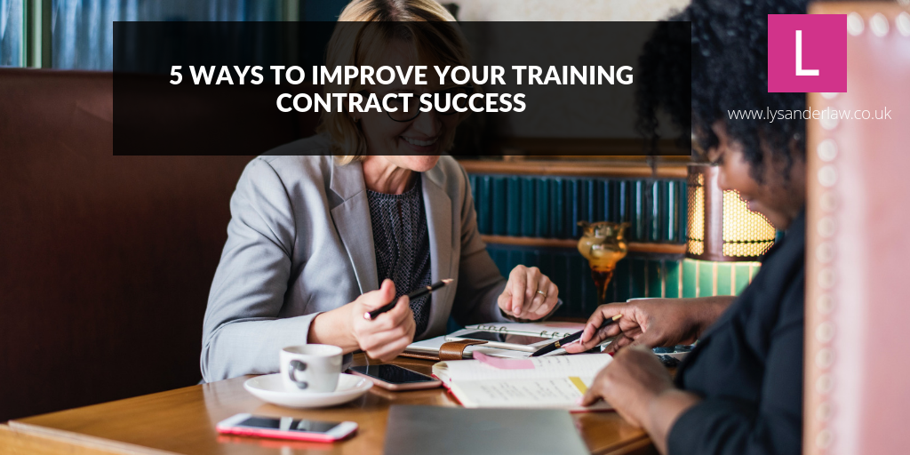 5 ways to improve your training contract success