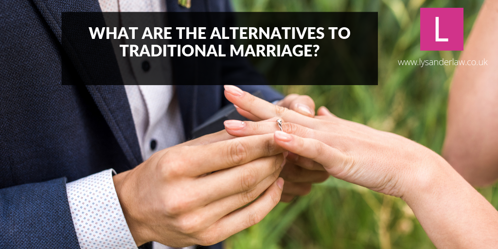 What are the alternatives to traditional marriage?