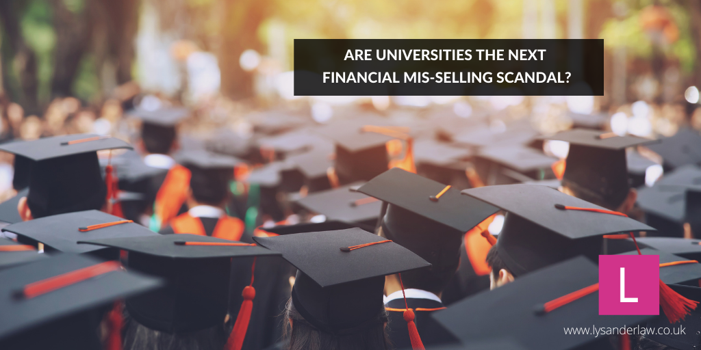 Are universities the next financial mis-selling scandal?