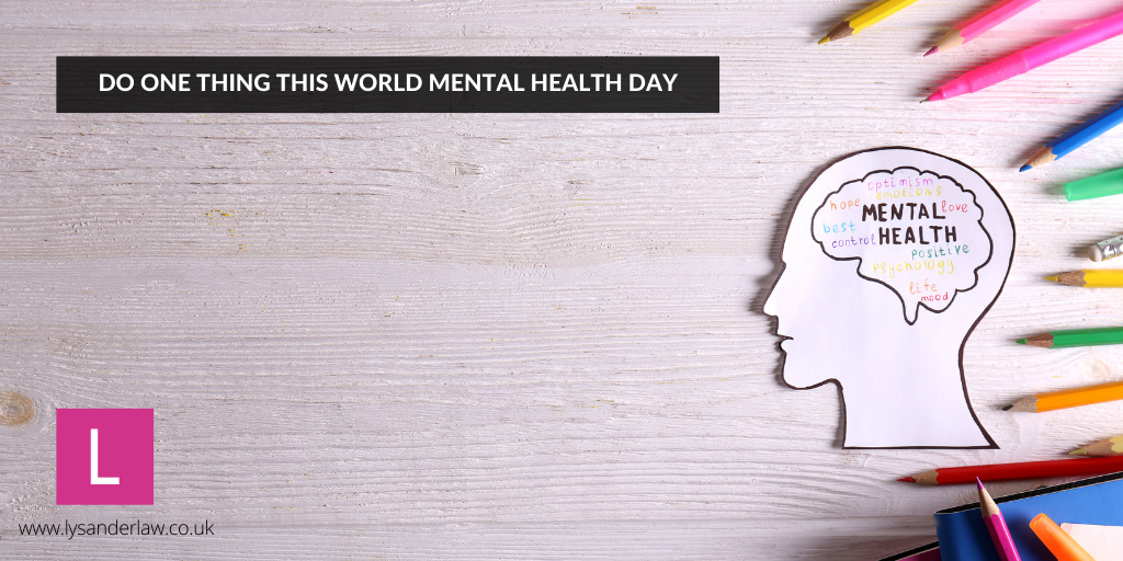 Do One Thing this World Mental Health Day